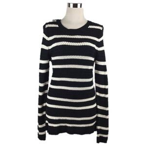 41 Hawthorn Black /White Striped Pullover Sweater